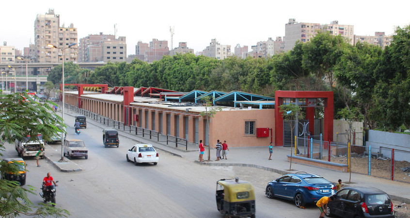 Exterior View of Zenein Market after implementation