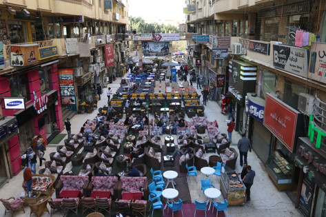 """Public Space Activities in the """"Syrian Passage"""" in al-Amrikiyya Area"""