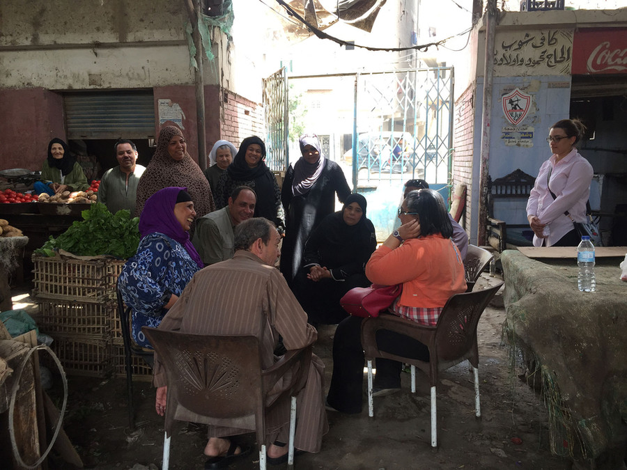Focus Group Discussion with the market vendors including the Gender Analyst and the Solid Waste Management Consultant