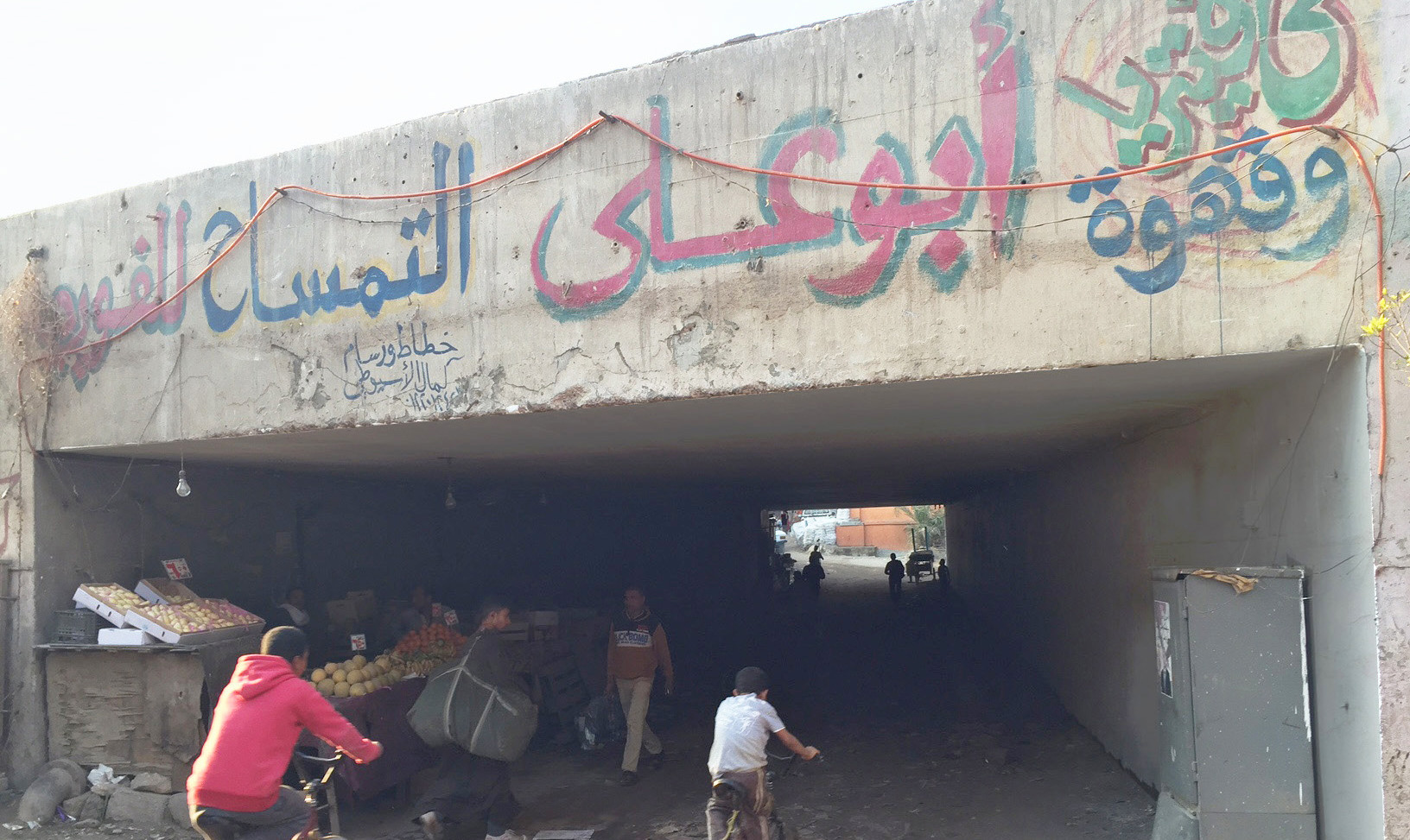 Poor physical condition of the selected tunnel