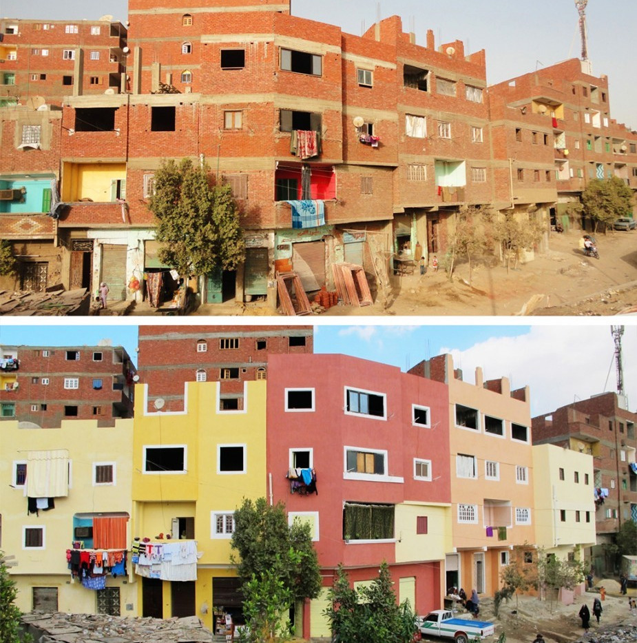 `Izbit Khayrallāh Houses: Before and After (Source: Takween, 2012)