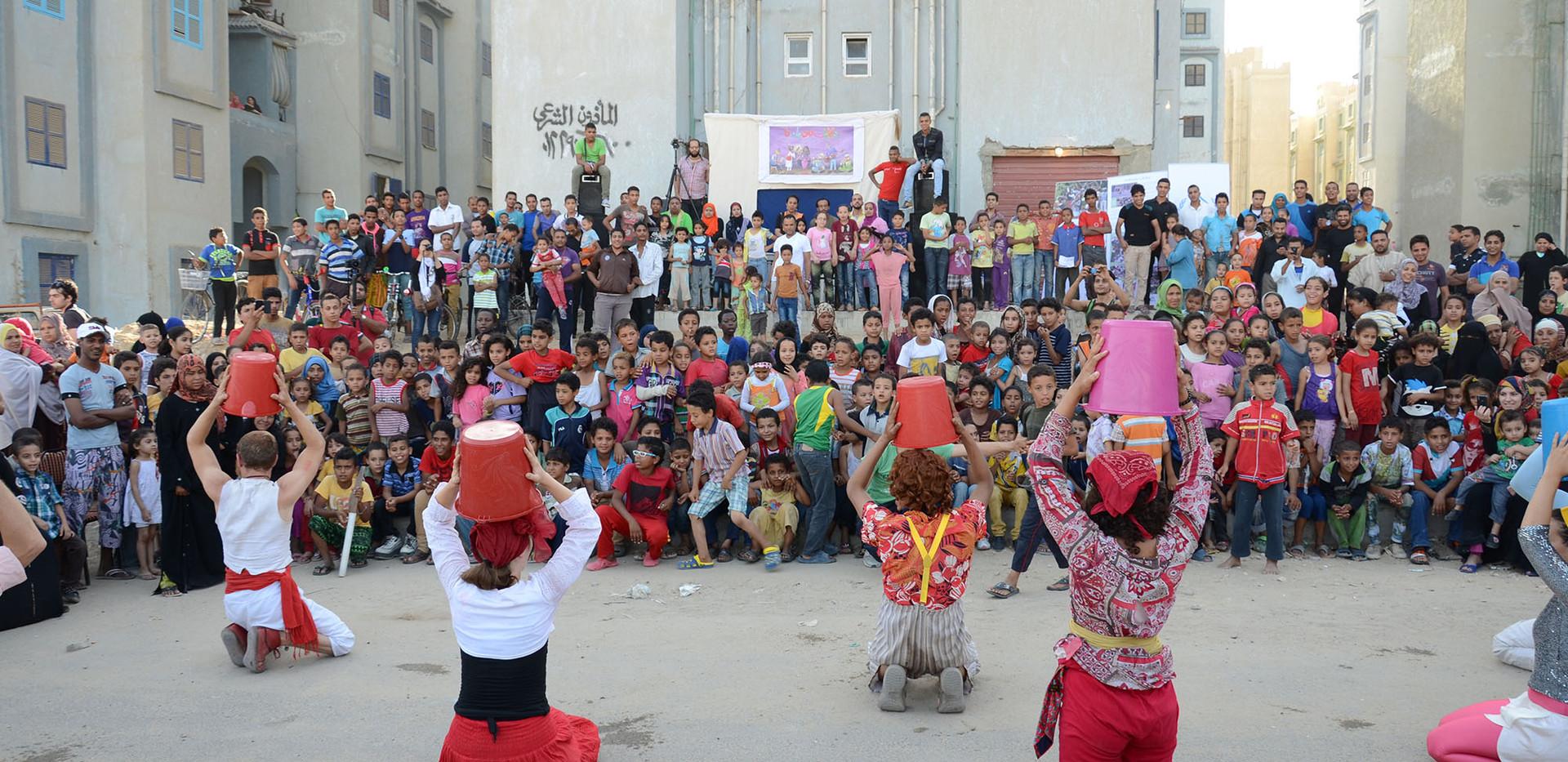 Art performances in the public open space