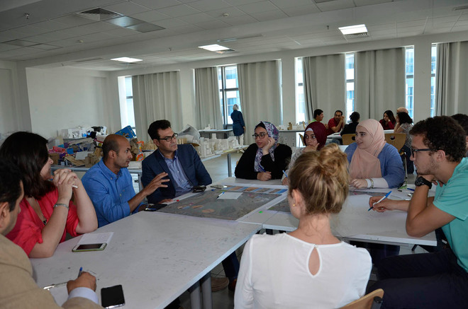 Discussion between the different stakeholders in the workshop conducted at the GUC