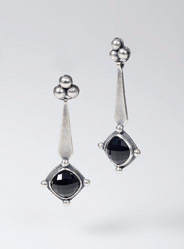 Trefoil Long Drop Spinel Earrings (SOLD)