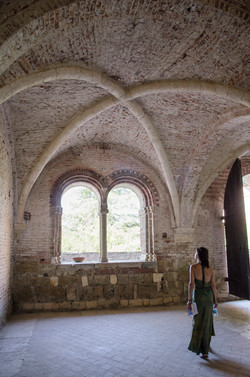 Interior view of groin vault