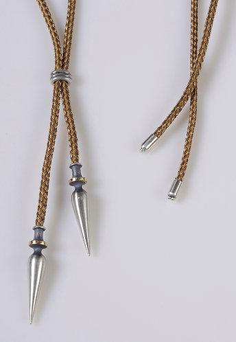 N215g Golden Plumb Bob Slide Necklace