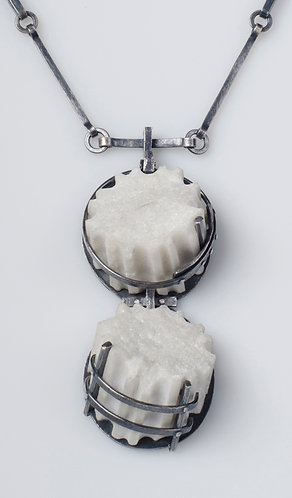 Double Fenced Fragment Necklace