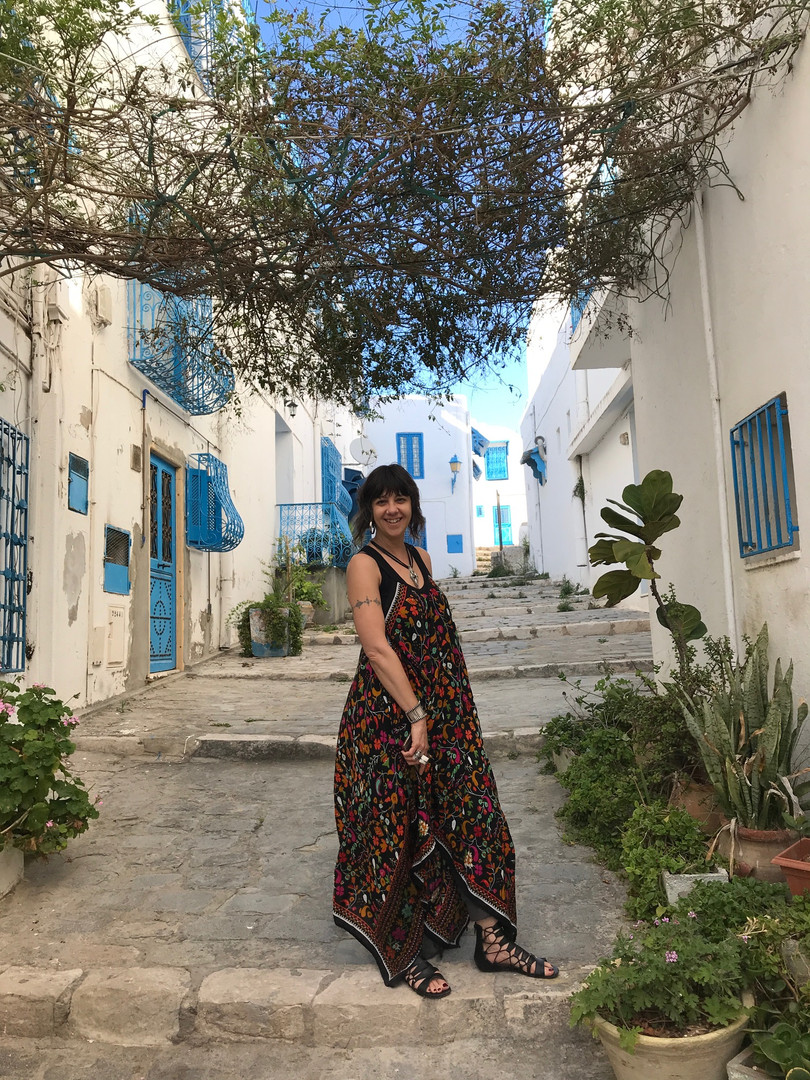 Donna in Sidi Bou Said, Tunis