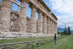 Donna at Paestum Temples