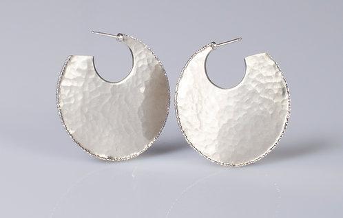 E72sm Sliver Disc Earrings