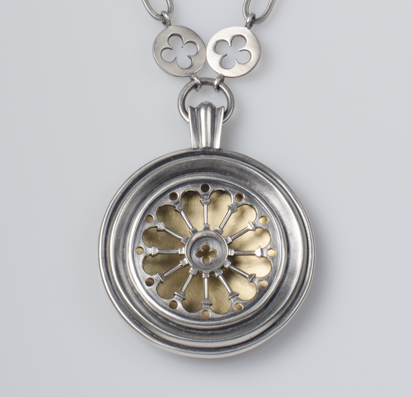 Rosette Window Necklace