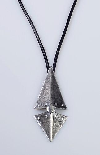 N181 Long Split Diamond Necklace
