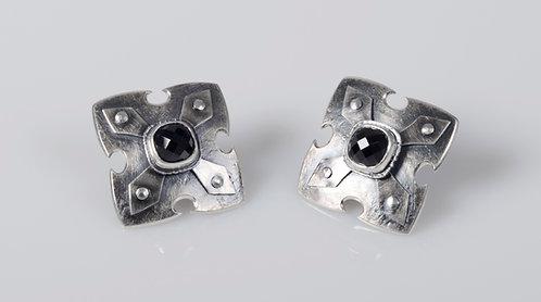 Cross Shield Earrings