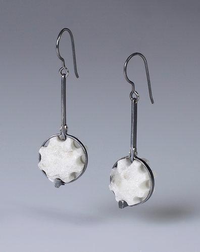 Pole Drop Fragment Earrings