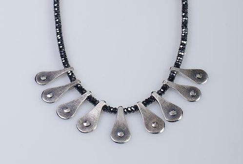 N300 Rivet Drop Necklace on Hematite