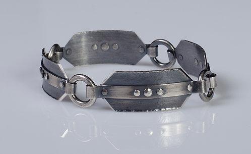 B612 Rivet Panel Link Bracelet