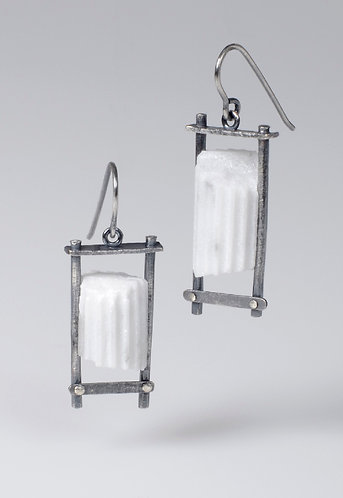 (Small) Caged Column Earrings (SOLD)