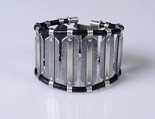 B610 Rivet Panel Cuff Bracelet