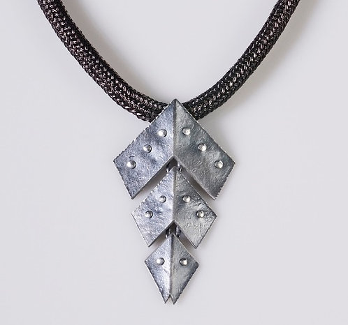 N191 Studded Chevron Necklace