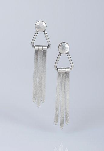 E95 Triangle Fringe Earrings
