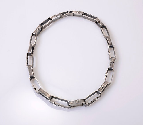 N124 Heavy Rivet Chain Necklace