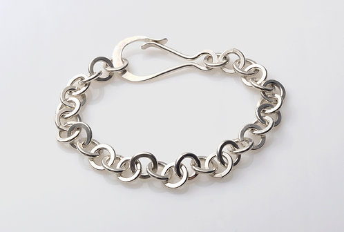B30 Silver Dog Chain Bracelet