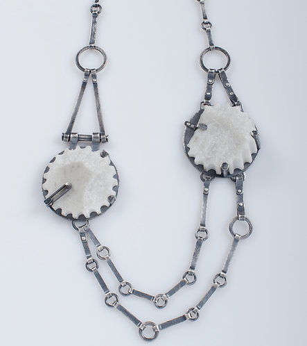 Large Double Fragment Chain Necklace (SOLD)