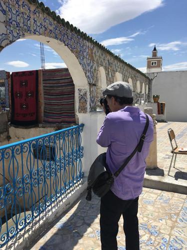 atop the Medina shopping markets in the center of Tunis.