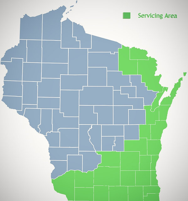 Pure Water Technology of Northern Wisconsin service area map