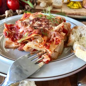 Vegetarisk lasagne med fänkål