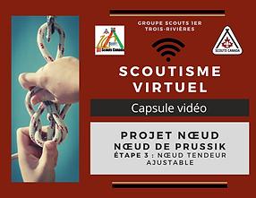 Scoutisme virtuel Noeud de prussik etape