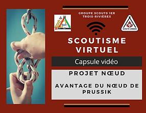 Scoutisme virtuel Noeud de prussik avant