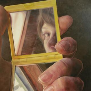 Self Portrair, oil on canvas, 30x40