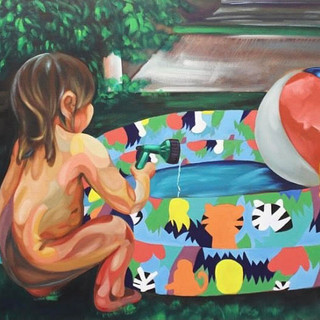 Pool Time, Oil on Canvas, 2017