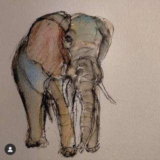 Elephant, 2021, $400