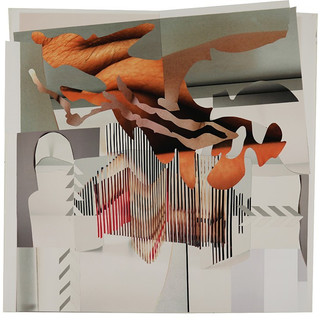 "Doors Open, Lights on, Feet on the floor, 2015, 30.25"" x 30"" (Framed 34' x 34.5') Analog Collage $3000.00"