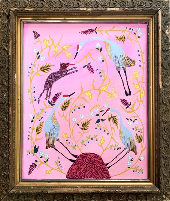Sandhill Cranes, Painting
