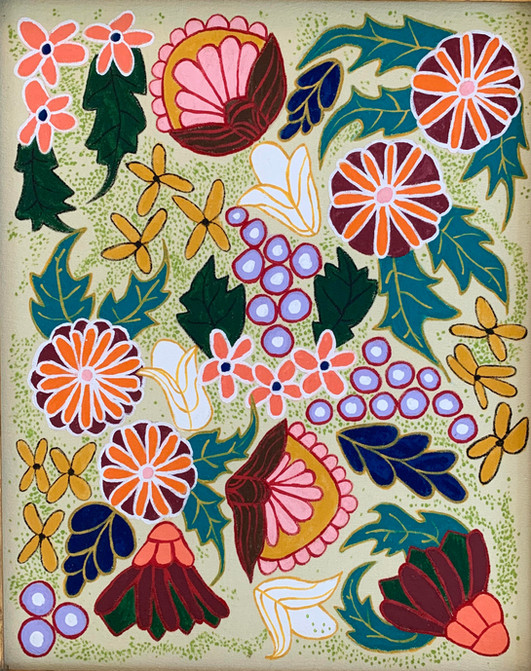 Retro Blooms, Painting