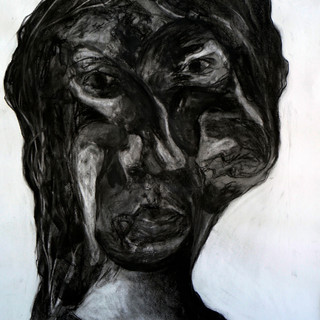 Twistable Turnable Woman, Charcoal on Paper