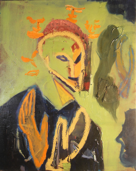Diminishing Boy, Painting