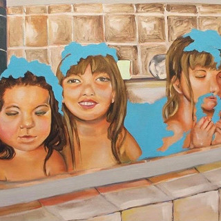 Bath Time, Oil on Canvas, 2017