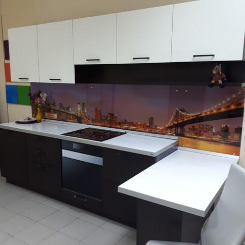 Кухонный гарнитур 3000 мм венге-белый