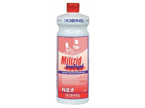 Кислотное средство для очистки санитарных зон Milizid Kraftgel