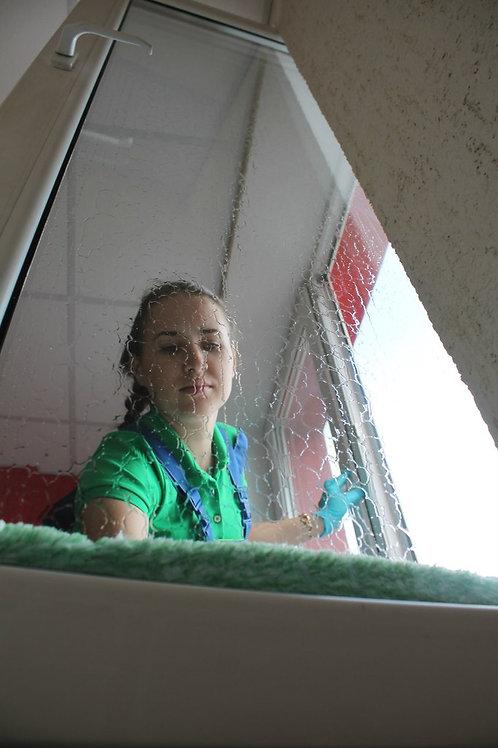 Мойка окон, зеркал, витражей *цена за 1 м²