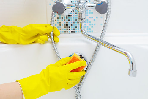 Комплексная уборка ванной комнаты свыше 2 м.кв *цена за 1 кв.м
