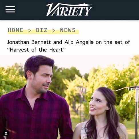 """""""Jonathan Bennett"""" """"Alix Angelis"""" """"Variety"""""""