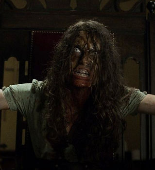 Alix Angelis The Cleansing Hour horror movie possession possessed exorcism