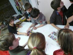 Atelier avec des scolaires