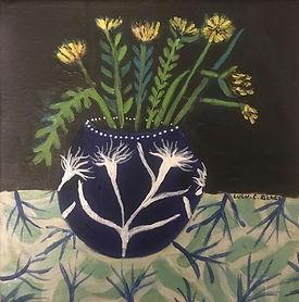 Vase aux pissenlit avec pissenlit.jpg