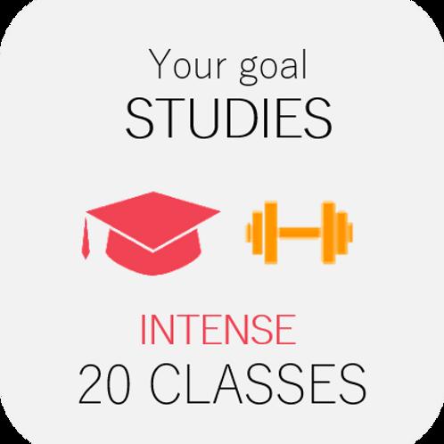 STUDIES - intense 20 classes